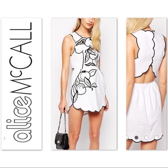 925e06be02 Alice McCall Dresses   Skirts - Alice McCall NWOT mini dress open back  white black